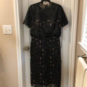 JS Collection Black Cut-Out Dress
